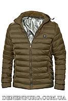 """Куртка мужская демисезонная с подогревом от """"Power bank"""" RLZ 19-M11 хаки, фото 1"""