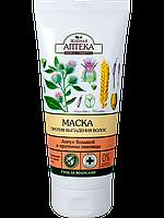 Маска против выпадения волос Лопух большой и протеины пшеницы 200мл Зеленая Аптека