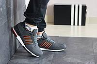 Мужские кроссовки в стиле Adidas (весна-осень, мужские, нубук, серые), фото 1