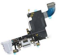 Шлейф Apple iPhone 6S с разъемом зарядки, наушников и микрофоном Original Light Gray