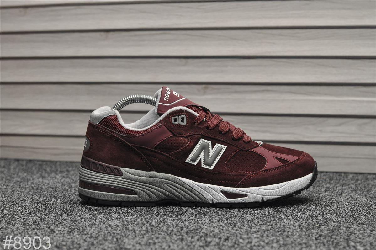 Мужские кроссовки New Balance 991  Bordo, Реплика
