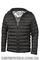 """Куртка мужская с системой подогрева от """"Power bank"""" 19-M11 черная"""
