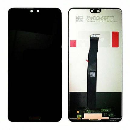Дисплей (экран) для Huawei P20 EML-L29 с сенсором (тачскрином) черный, фото 2