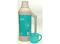 Термос со стеклянной колбой, 2 литра. Термос для жидкости. Термос питьевой., фото 1