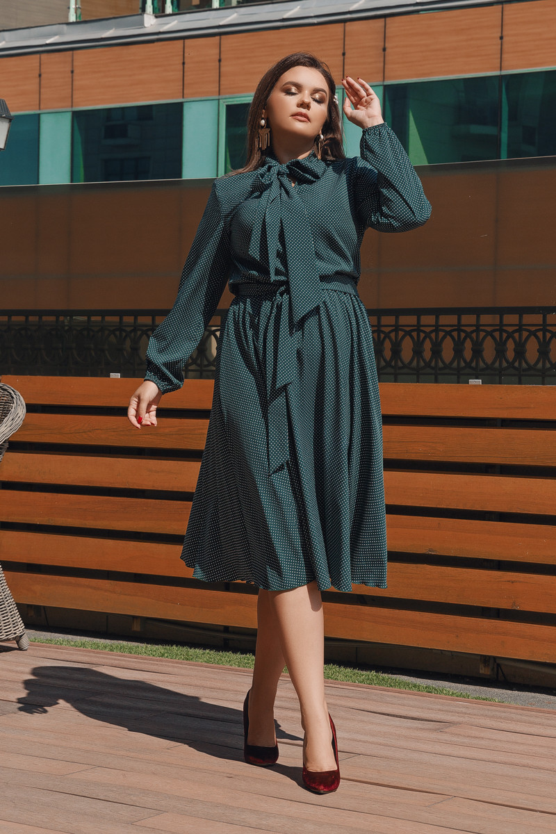 Платье LiLove 704-2 56-58 зеленый