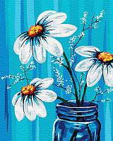 Картина по номерам Ромашки в вазе, 40x50 см, подарочная упаковка, Brushme (Брашми)