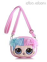 Детская сумочка на пояс с вышивкой цвет розовый, 1962