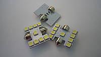 Светодиод SV8.5 T10*31-9SMD(5050)-12V белый