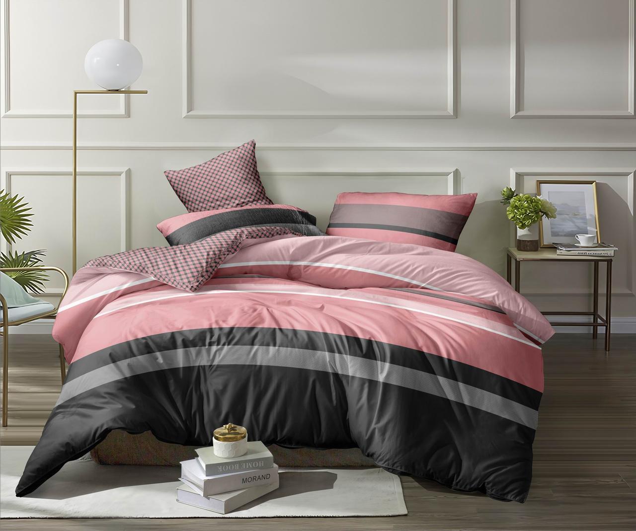 Двуспальный комплект постельного белья евро 200*220 хлопок  (12726) TM KRISPOL Украина