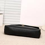 Модная женская сумка. Сумка клатч женская с клапаном (черная), фото 5