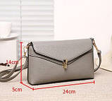Модная женская сумка. Сумка клатч женская с клапаном (черная), фото 7