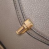 Модная женская сумка. Сумка клатч женская с клапаном (черная), фото 8