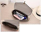 Модная женская сумка. Сумка клатч женская с клапаном (черная), фото 9
