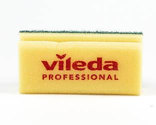 Губка желтая зеленый Абразив, 7х15 см, Vileda