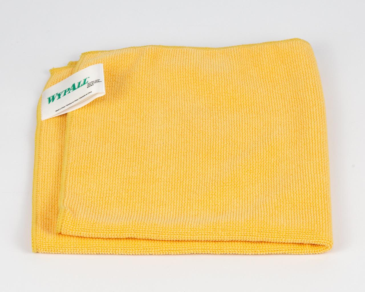 Салфетка микрофибра универсальная Wypall, 40х40см, желтая.