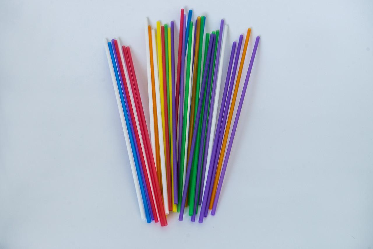 Трубочка мохито, разноцветная, 3мм х 21 см, 500 шт.