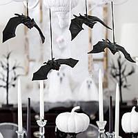Кажан силіконовий, малий на Halloween, Летучая мышь резиновая на хэллоуин
