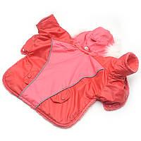 Курточка для собак Осень красная мини 21х27