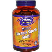 "Спортивная мультидобавка для мужчин NOW Foods, Sports ""Men's Extreme Sports Multi"" (180 гелевых капсул)"