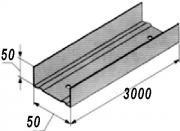 Профиль стеновой. СW50-3m.(50x50х0.5) Украина