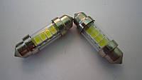Светодиод SV8.5-T10*36-6SMD(5630)-12V белый
