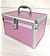 Кейс для косметики розовый мини (геометрия)