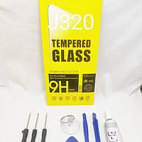 Защитное стекло Samsung Galaxy J3 j320 клей B7000  3 ml, инструмент