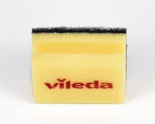 Губка желтая черный Абразив, 7х9,5 см, Vileda