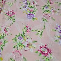 Тик Лилия розовая 100%  хлопок на метраж