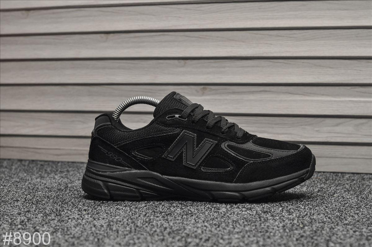 Кроссовки мужские New Balance 990 Triple Black. ТОП КАЧЕСТВО!!!  Реплика