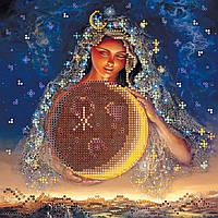 Схема для вышивки бисером на натуральном художественном холсте Лунная фея