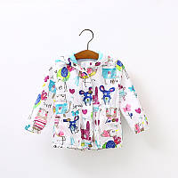 Детская ветровка для девочек марки DuDu Diary, размеры 120, 130