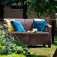 Keter Corfu Love Seat садовая мебель из искусственного ротанга, фото 1