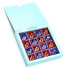 Шоколадные конфеты ручной работы *Бирюзовая коробк на 16шт.*, фото 4
