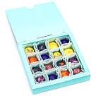 Шоколадные конфеты ручной работы *Бирюзовая коробк на 16шт.*, фото 6