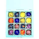 Шоколадные конфеты ручной работы *Бирюзовая коробк на 16шт.*, фото 8