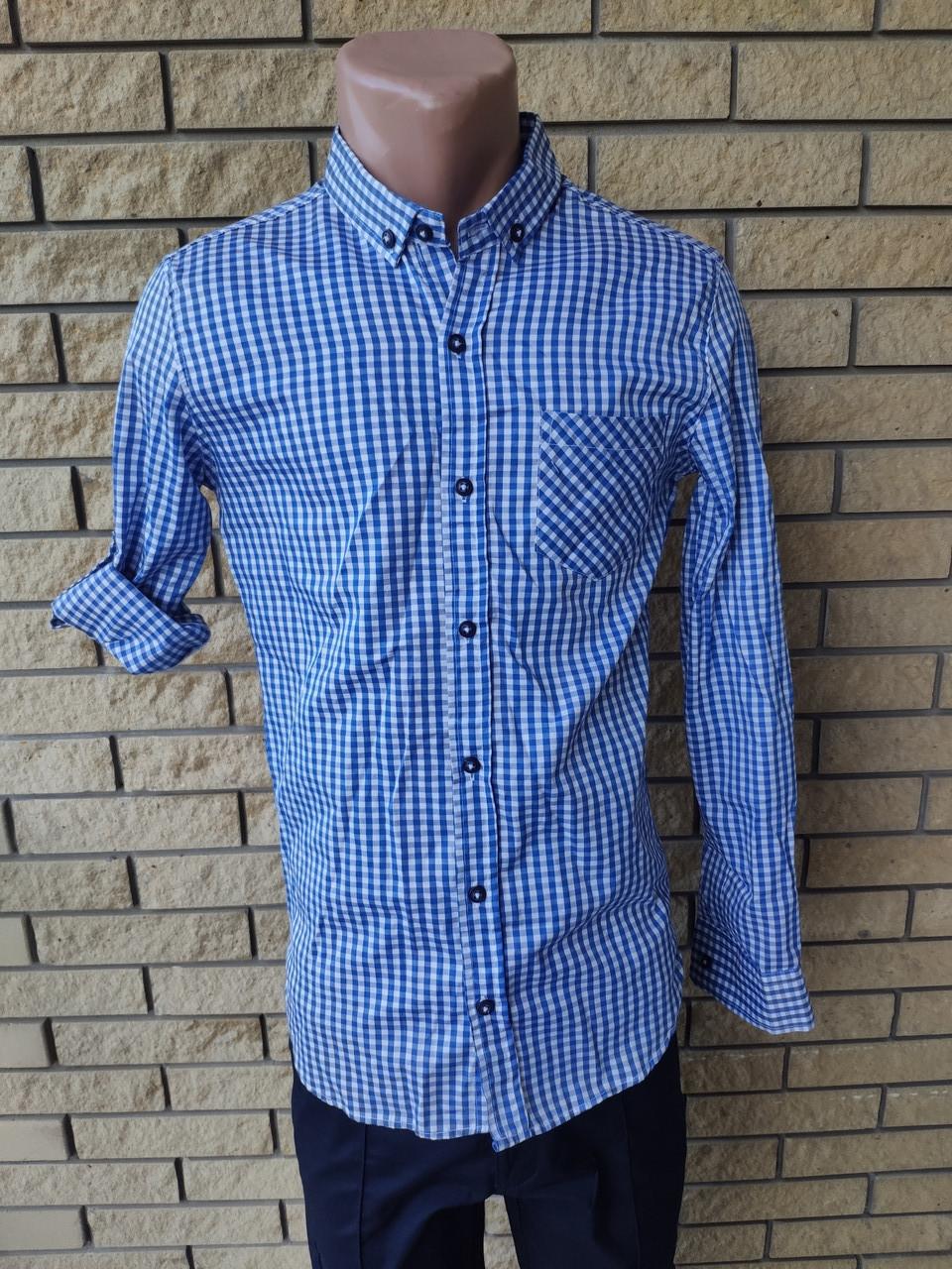 Рубашка мужская коттоновая брендовая высокого качества, маленький размер PART TIME, Турция