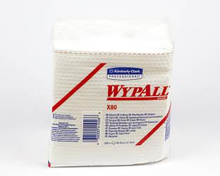 Протирочный материал WYPALL X80 в пачке, белый, 105 гр / м2, 50 листов, 1 слой, Kimberly-Clark