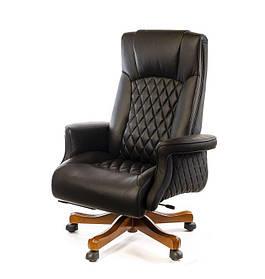 Кресло Франсуа EX TILT Кожа Люкс Комбинированная Черный (АКЛАС-ТМ)