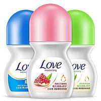 Шариковый дезодорант-антиперспирант Bioaqua Love с экстрактом огурца (50мл)