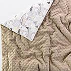 Плед і подушка з північними ведмедиками сіро-коричневого кольору, фото 2
