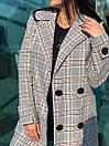 Женское клетчатое Пальто двубортное на утеплителе 58pal190, фото 3