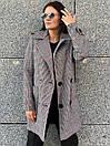Женское клетчатое Пальто двубортное на утеплителе 58pal190, фото 4