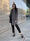 Женское клетчатое Пальто двубортное на утеплителе 58pal190, фото 6