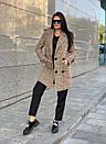 Женское клетчатое Пальто двубортное на утеплителе 58pal190, фото 7