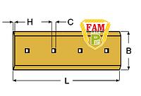 Нож ковша (режущая кромка) 249х280х25 мм Caterpillar 8E4569