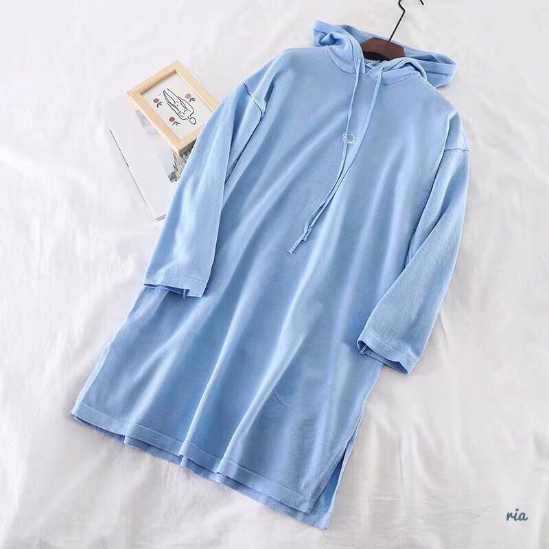 Женское платье - худи из двухнитки с капюшоном 77plt137