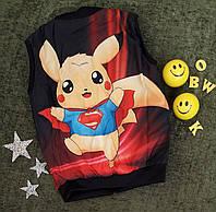 """Детская жилетка """"Покемон"""", размер 122, 128, 134, 140, красный, фото 1"""