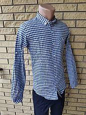 Рубашка мужская коттоновая брендовая высокого качества, маленький размер PART TIME, Турция, фото 3