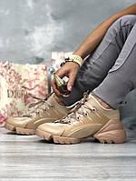 Кроссовки женские DIOR бежевые., фото 1
